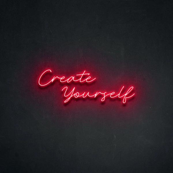 Неоновая вывеска Create yourself