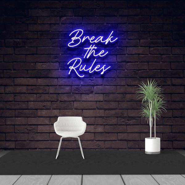 Неоновая вывеска Break the Rules